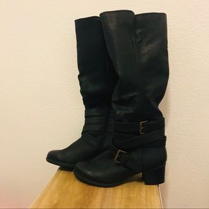 Mossimo Supply Co tall black boots.